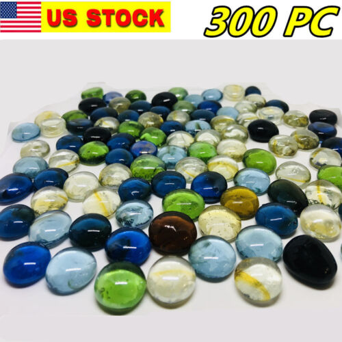 300 Pcs Mixed Color Large Glass Gems, Pebbles, Mosaic Tiles, Nuggets