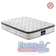 Euro Top Pocket Spring Bamboo Fabric Mattress Queen West Melbourne Melbourne City Preview