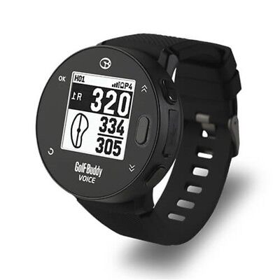 NEW Golf Buddy 2018 Voice X With Wristband Golf Watch GPS Audio Distance Black