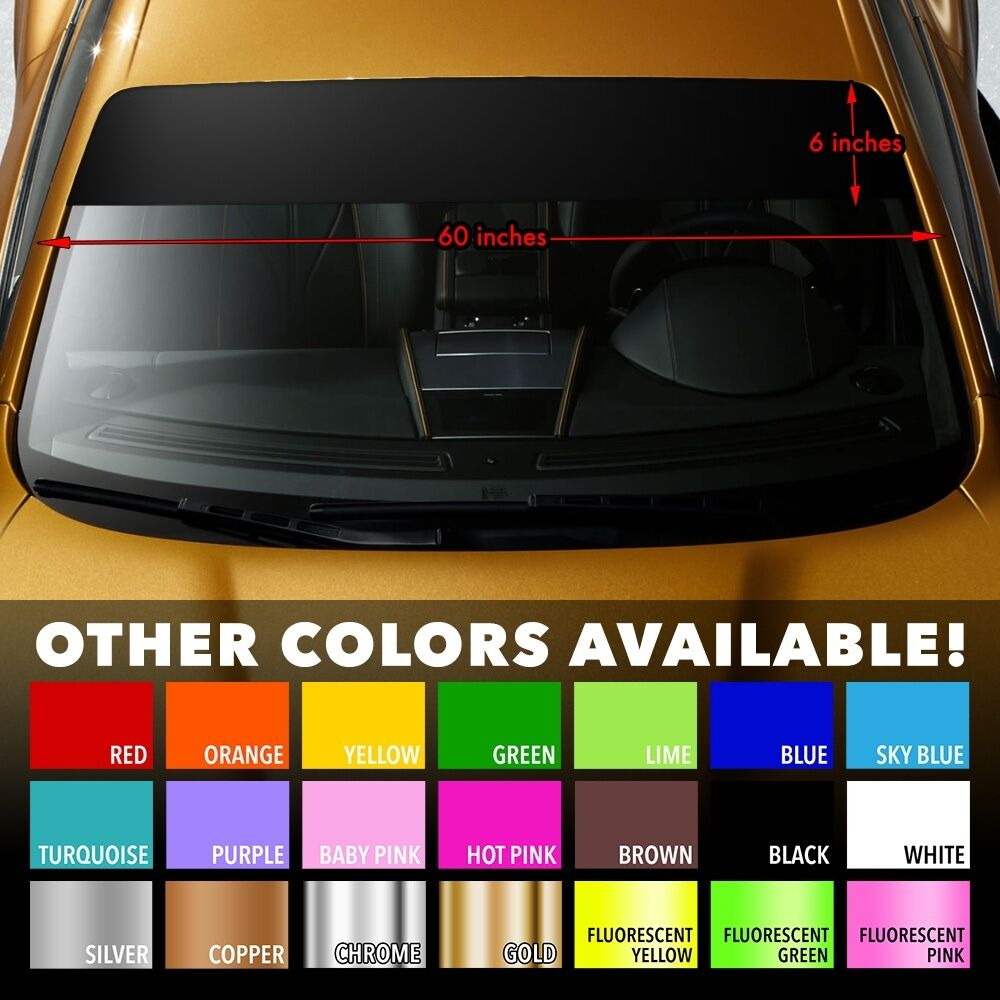 Sun Strip Visor Windshield Banner Premium Vinyl Decal Cast PVC Film VARIOUS SIZE