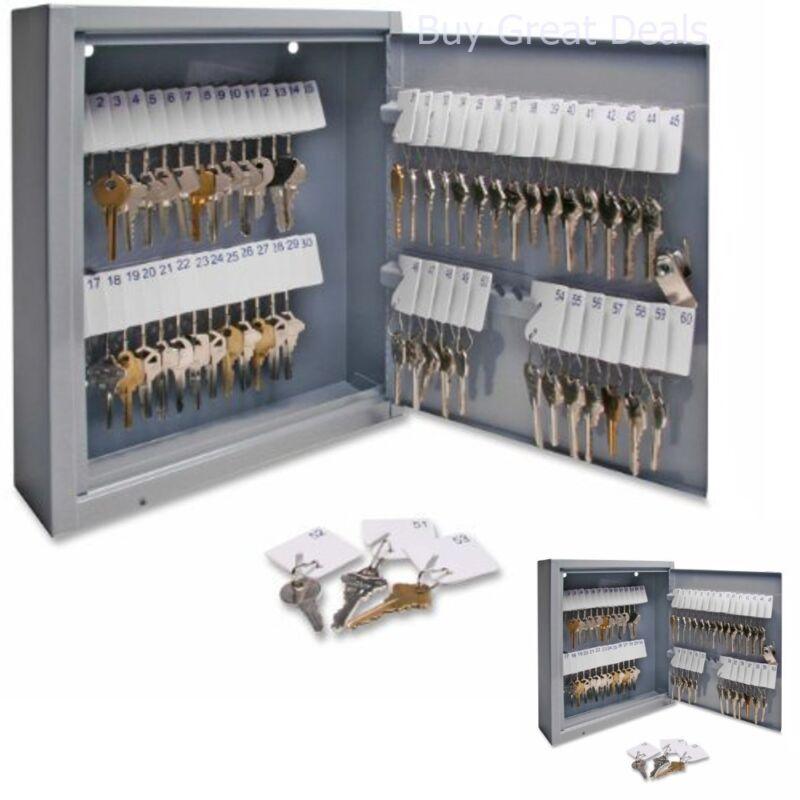 Business Commercial Key Cabinet Storage Box Lock Safe Lockbox Wall Mount Holder