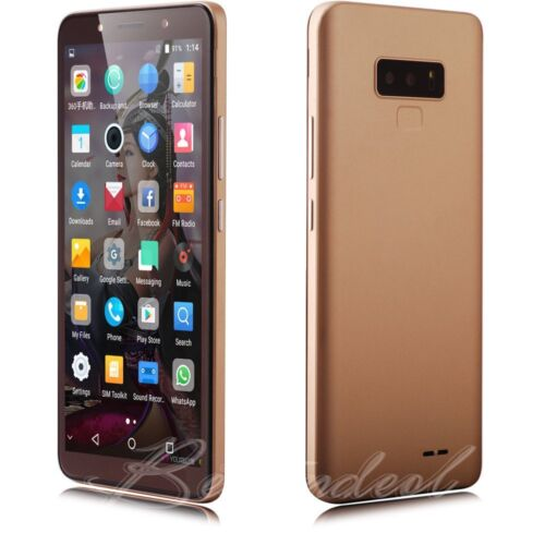"""Android Phone - Android 7.0 Unlocked 6.0"""" Cell Phone Quad Core Dual SIM 3G T-Mobile Smartphone"""