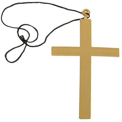 Mad Monks Golden Crusifix Cross Fancy Dress Drama Accessory](Mad Monk Halloween)