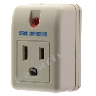 Single Outlet Surge Protector With Power Suppressor 180 Joules 125V 15A 1875W