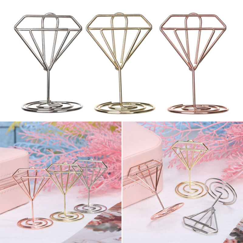Paper Clamp Rose Gold Photos Clips Place Card Clamps Stand T
