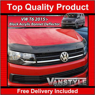 VW T6 TRANSPORTER 2015> BONNET WIND STONE DEFLECTOR PROTECTOR NOT BONNET BRA