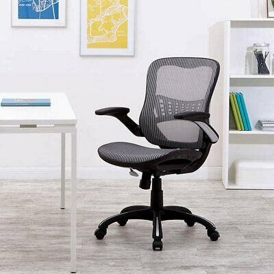 - Worksmart Breathable Mesh Seat & Back Managers Chair- Gray, Office