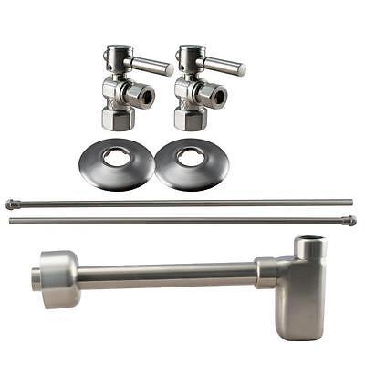 Westbrass WBD19103BLK-07 Complete Pedestal Sink Installation Kit in Satin (Black Complete Pedestal Sink)