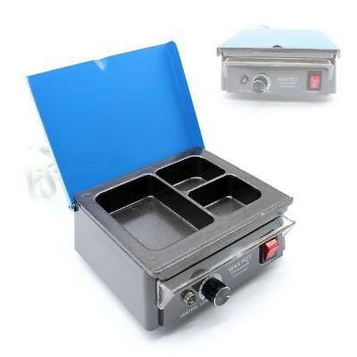 Dental 3-well Electric Waxer Lab Analog Wax Pot Melting Dipping Heater Pot 110v