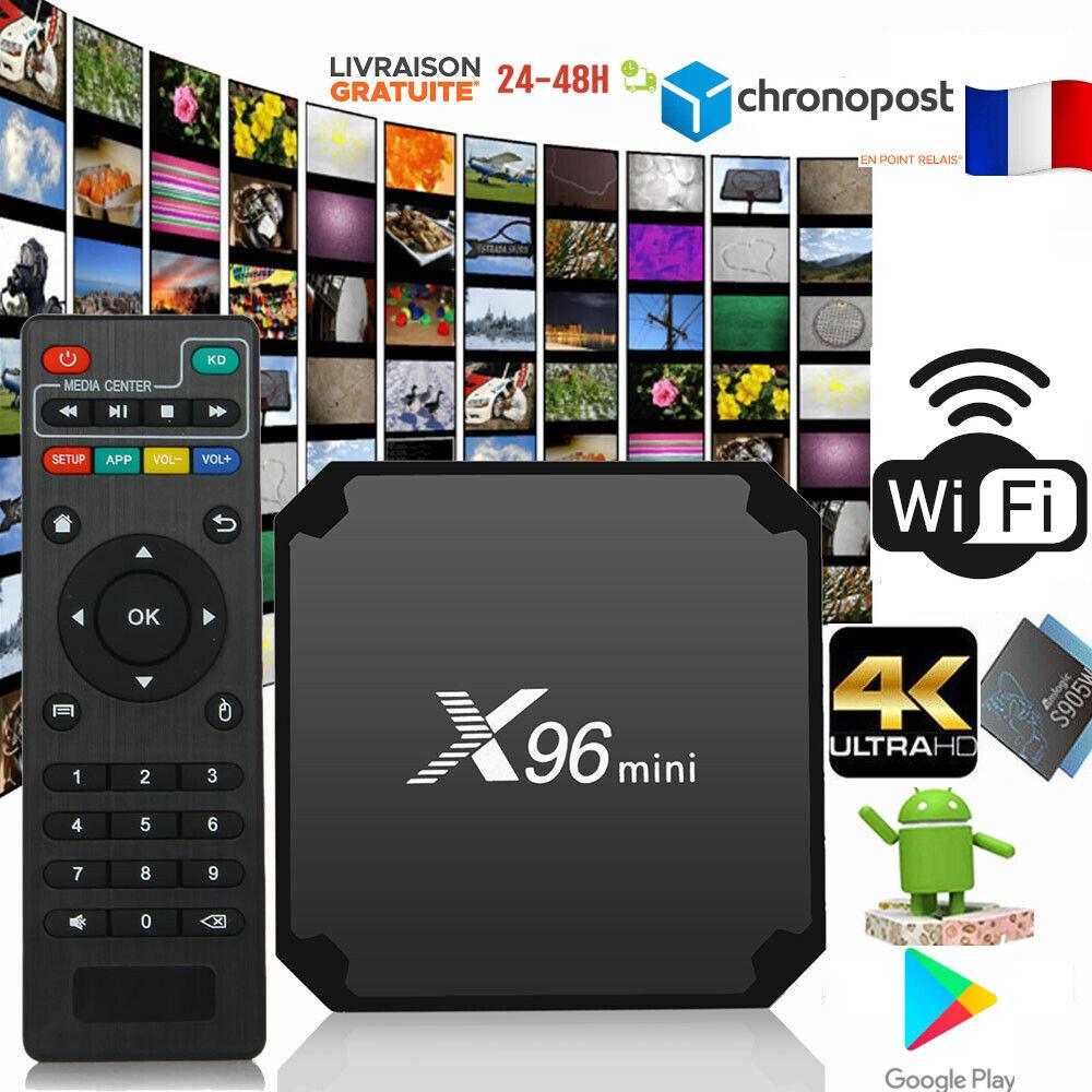 Boitier X96 MINI IP&TV SMART BOX 4K Ultra HD WiFi - Livraison RAPIDE 48H