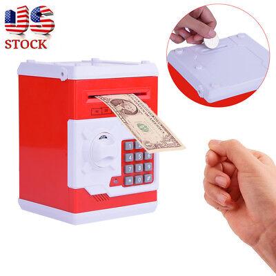 Combination Lock Money Box Code Key Coins Cash Saving Piggy Bank Counter Gifts