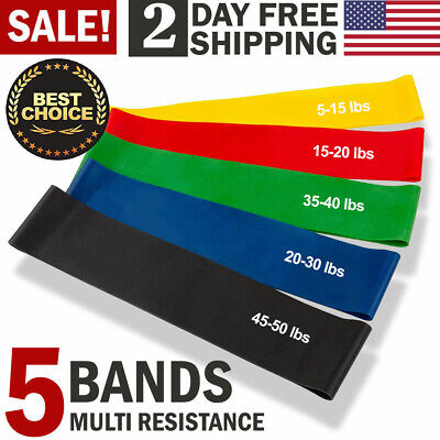 d43eca86d4 Workout Resistance Bands Loop Set CrossFit Fitness Yoga Booty Leg Exercise  Band. $. 7.91. Buy It Now