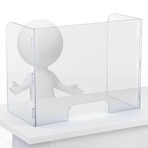 SNEEZE GUARD Plexiglass Divider Cashier Barrier Shield Counter & Desk Acrylic