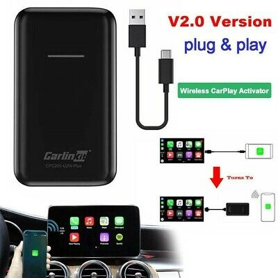 Carlinkit CarPlay Adattatore V 2.0 Wired a Wireless USB CarPlay Dongle Nero