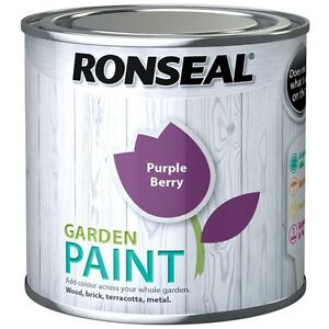 Ronseal Outdoor Garden Paint Various Colours for Exterior Wood Metal Stone Brick