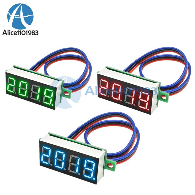 0.36 Inch Digital 4-Digit Voltmeter LED 0-100V Voltage Tester Panel Meter 3-Wire