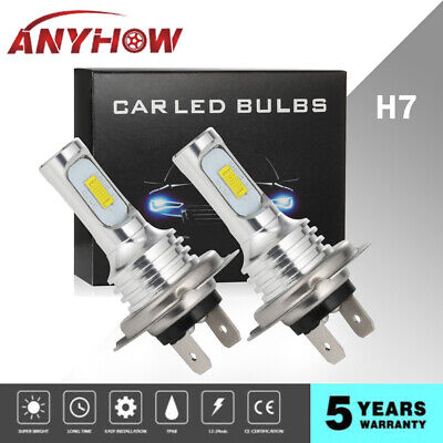 2019 H7 LED Headlight Bulbs Conversion Kit High/Low Beam 80W 4000LM 6000K (Best Mens Gifts For Christmas 2019)