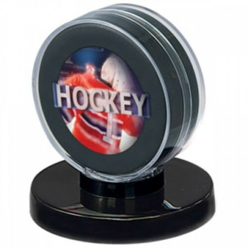 Ultra Pro Hockey Puck Holder, Black Base Sports Collectible Cases New