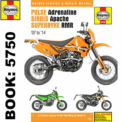 Pulse Adrenaline Sinnis Apache Superbyke RMR 2007-14 Haynes Workshop Manual