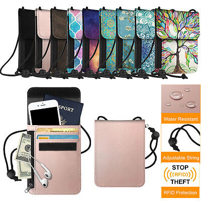 - Fintie Passport Holder Neck Pouch RFID Blocking Premium PU Leather Travel Wallet