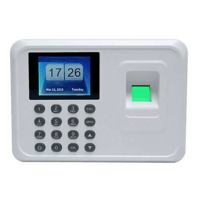Employee Fingerprint Recorder 2.4 Inch Tft Dc 5v Time Attendance Clock W1r1