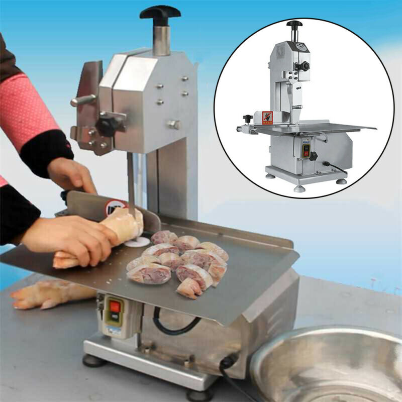 Commercial Electric Bone Saw Frozen Meat Fish Sawing Cutter Machine 650W 110V US