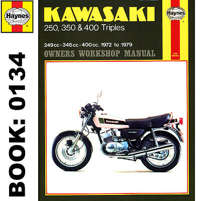 Kawasaki 250 350 400 Triples KH S1 S2 S3 1972-79 Haynes Workshop Manual