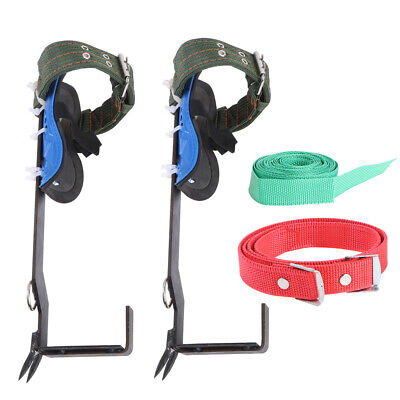2 Gears Tree/Pole Climbing Spike Set Both Sides Safety Belt Lanyard Rope