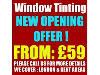 WINDOW TINTING FROM JUST £59 NEW OPENING OFFER, CALL US NOW!