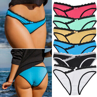 Lot 6,12 PCS Women Bikini Panties Sexy Cotton Low Waist Hipster Briefs Underwear