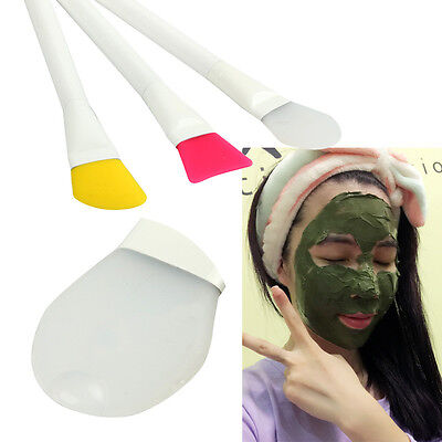 3 Pcs Facial Cosmetic Silicone Mask Brushes Mask Stir Brush Facial Cosmetic