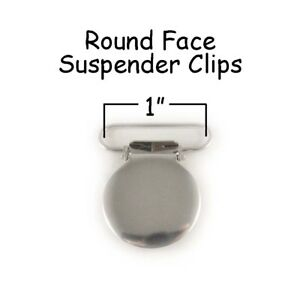 25-Suspender-Paci-Pacifier-Holder-Mitten-Clips-1-034-Round-Face-LEAD-FREE-Inst