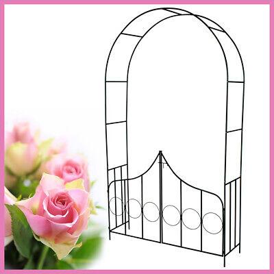 Arco Enredaderas Rosas Pérgola Jardín Patio Exterior Puertas Soporte Acero Nuevo