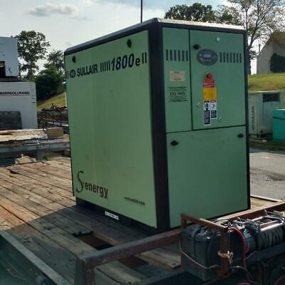 Used 25 Hp Sullair 1800 Skid W Computer Quiet Housing Rotary Comp 230460v 3ph