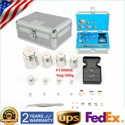 Calibration Scale Weight Kit Set F1 Grade 1mg-500g Calibration Balance Weights