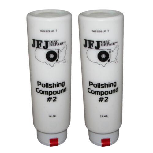 2 x JFJ EASY PRO Polishing Compound Solution #2 White 12oz