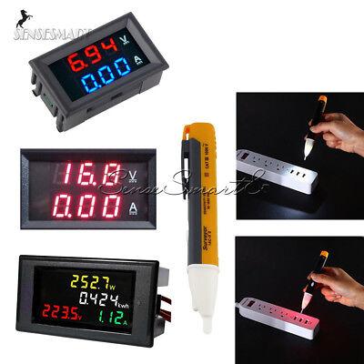 Ac 80-300v200-450v 100a Lcd Voltmeter Ammeter Volt Amp Power Kwh Panel Meter
