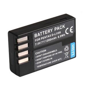 New D-LI109 Battery FOR Pentax K-R K-30 K-50 K-500 Camera UK local