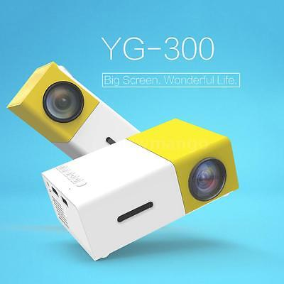 YG300 Mini Portable HD LED Projector 1920x 1080P Home Theater Cinema USB HDM AV