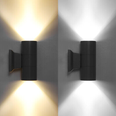 - Outdoor Wall Light Fixture Up Down LED Aluminum Waterproof Sconce Lamp Dual Head