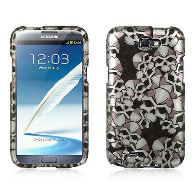 Black Skull Design Snap-On Hard Case Cover for Samsung Galaxy Note 2 Design Snap Case