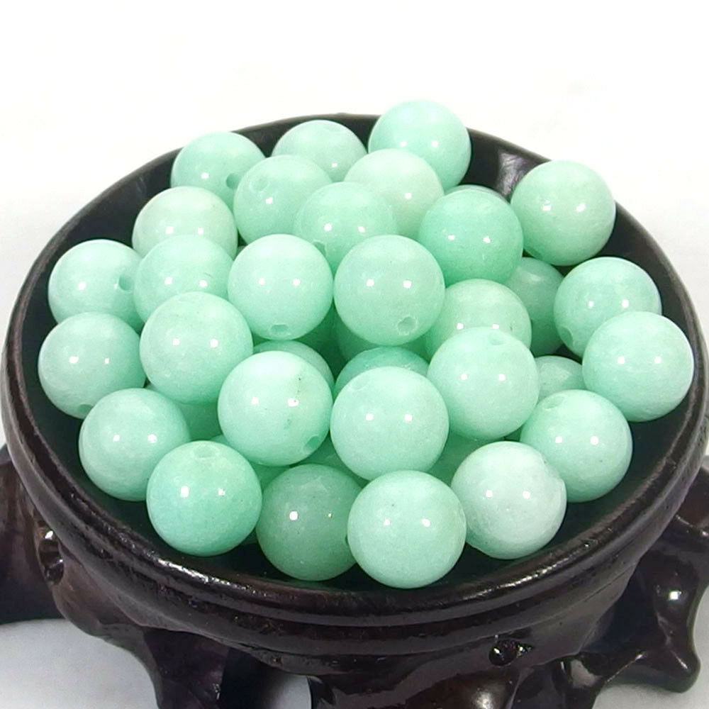 Bulk Gemstones I natural spacer stone beads 4mm 6mm 8mm 10mm 12mm jewelry design cyan jade