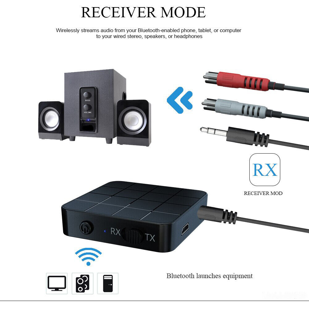 Wireless Bluetooth 5.0 Audio Aux Transmitter and Receiver 2