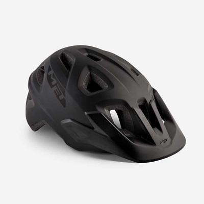 Bicicleta de Montaña Ciclo de Casco Met Echo Negro Mate 52 57