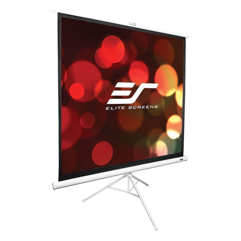 Tripod Series 119 in. Diagonal Portable Projection Screen wi
