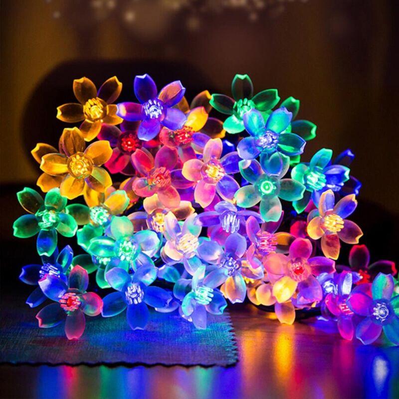 LED Solar Lichterkette Blumen Weihnachten Außenbeleuchtung ...