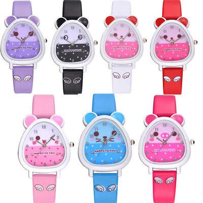 Lovely Animal Shape Design Boy Girl Children Quartz Watch Kid's Birthday Gift Animation Sports Quartz Watch