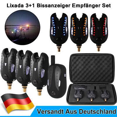Lixada 3+1 Funk Bissanzeiger Set Ton & Licht Bissalarm mit Case Nachtangeln N8X4