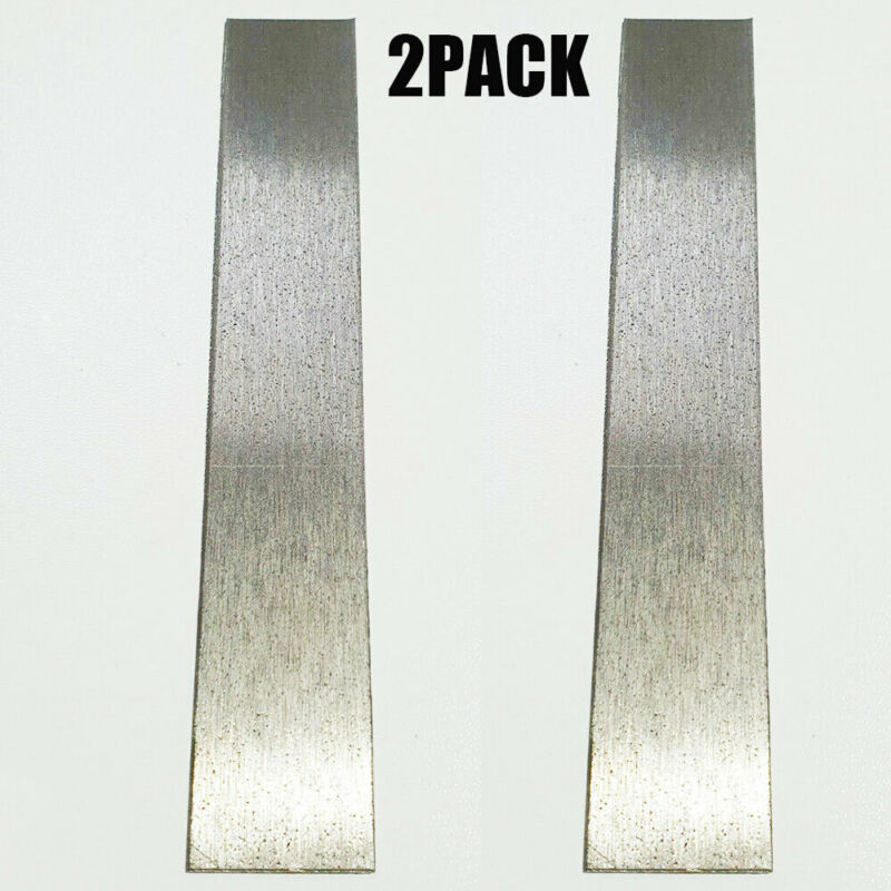"""2PCS Pure Nickel Anode 6"""" x 1"""" Plating Bright Nickel Jewelry Rectifier US SHIP"""