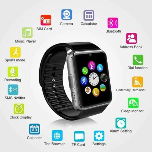 Bluetooth Smart Watch GT08 SIM Card for child kids tracker p